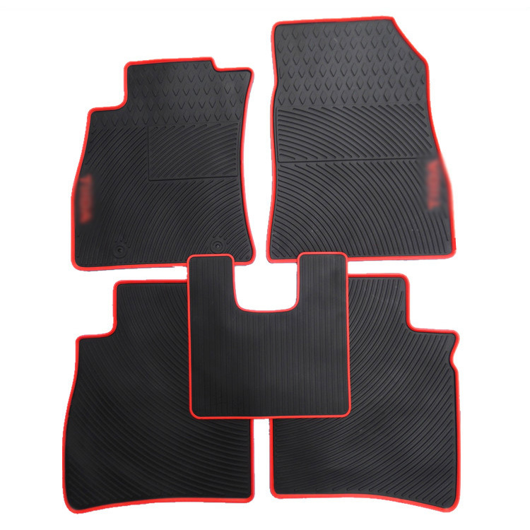 Savanini Genuine Dedicated Front&Rear Floor Slip-resistant Rubber Mats for Nissan Tiida