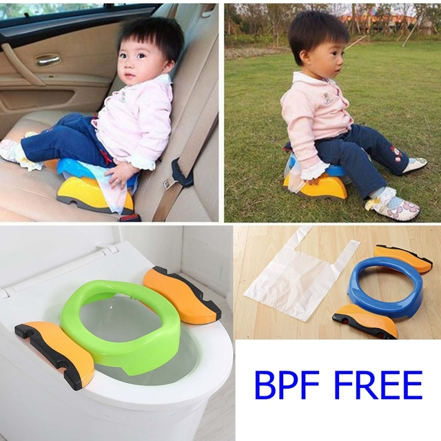 Multi-function BPA Free PP Baby Potty Training Toilet Seat Boys Girls Portable Folding Travel Potty for Children Camping Toilet