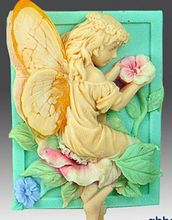 Wholesale DIY silicone soap mold flower angel pattern square Craft Making Handmade Soap silicone molds цена