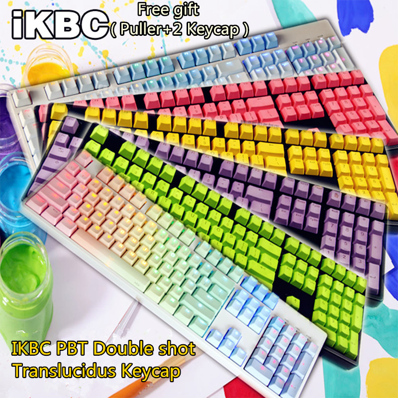 IKBC 104 PBT Double shot Translucidus Backlit Keycaps Key Cap For Cherry/Keycool/NOPPOO/PLU/HPE/Ducky/Filco Mechanical Keyboard
