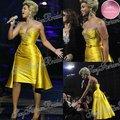 Beyonce Knowles выбрать спагетти ловушки бисера топ с поясом мини короткие атласные платья знаменитостей