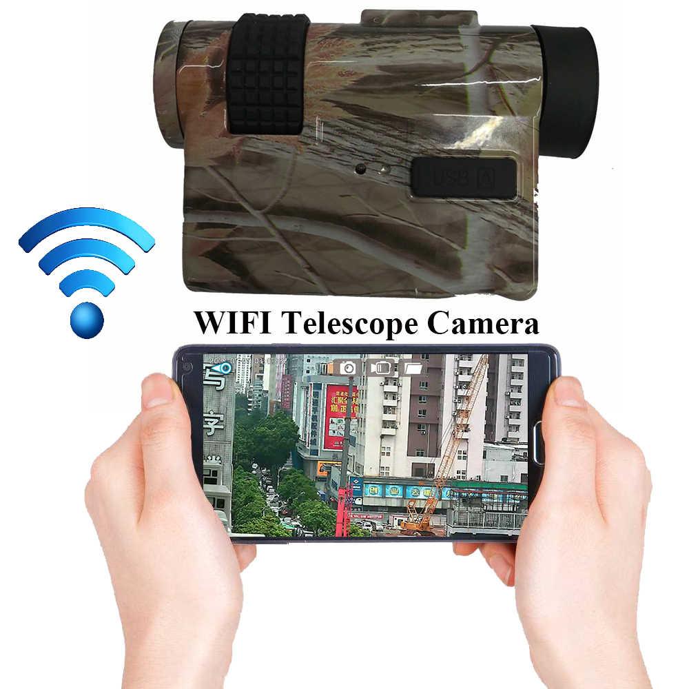 720 p WIFI HD Digitale Macchina Fotografica del Telescopio con 10X25 Cannocchiale & Max 32 gb Carta di TF per il Video registrazione di Trasporto APP Monitoraggio Remoto