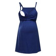Vetement femme, женская одежда, платье, однотонный жилет для беременных, для кормящих детей, для беременных, блузка без рукавов, футболка, ropa de mujer