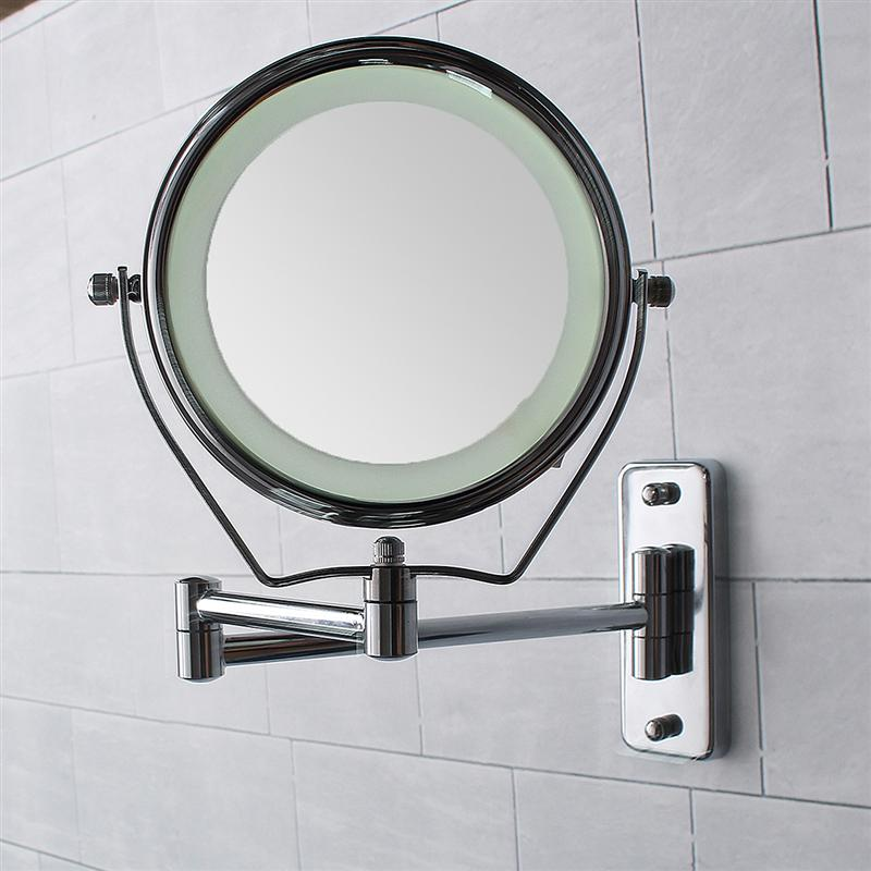 6 Inch Double Side 6 Led Light Illuminated 7X Magnifying Mirrors Makeup Mirrors Bathroom Shower Wall Cosmetic Mirror Mounted6 Inch Double Side 6 Led Light Illuminated 7X Magnifying Mirrors Makeup Mirrors Bathroom Shower Wall Cosmetic Mirror Mounted