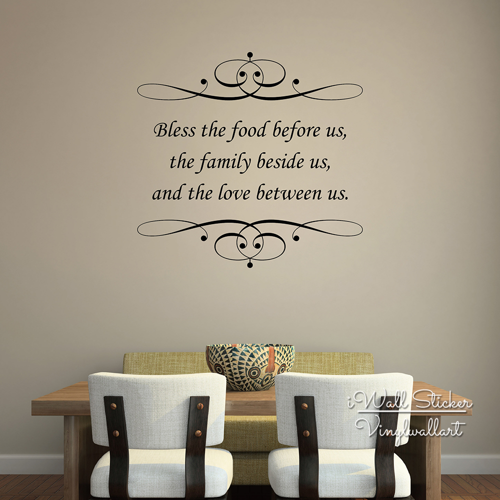 Love Quotes Wall Decals Bless Food Family Love Quote Wall Sticker Family Home Quote Wall