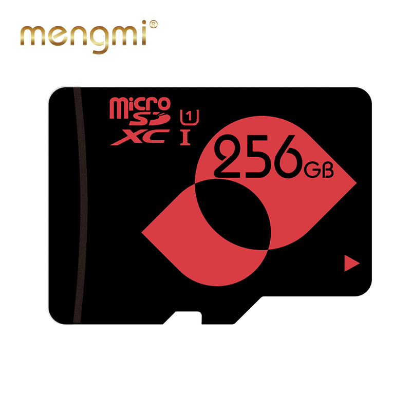 MENGMI 256GB Memory Card Class 10 UHS I U1 UHS I U3 microSDXC Card with Free