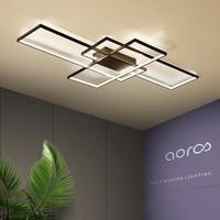 NEO Gleam Rectangle Aluminum Modern Led ceiling lights for living room bedroom AC85 265V White/Black Ceiling Lamp Fixtures