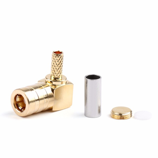 Areyourshop SMB Female Jack Right Angle RG316 RG174 Cable RF Connector For GPS Antenna 10pcs 50ohm Hot Sale Brass Plug Jack