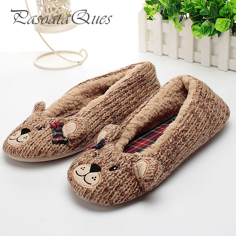 New Bear Cartoon Pattern Women Home Shoes House Indoor Breathable Comfortable Spring Women Slippers Pasoataques Brand