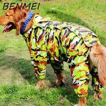 BENMEI Pet Rain Coat Rainwear Dog Raincoat Waterproof Clothes For Big Dog Jumpsuit Labrador Bulldog Clothes
