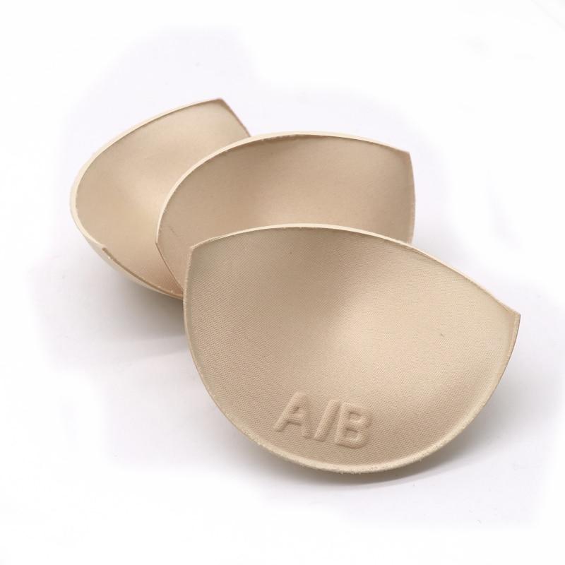 2 Pcs 1pair Thick Sponge Bra Pads Push Up Breast Enhancer Removeable Bra Padding Inserts Cups For Swimsuit Bikini Padding