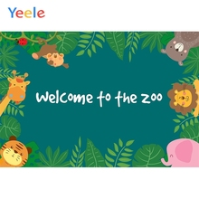 Yeele Wallpaper Zoo Poster Cute Animals Nice Decors Photography Backdrops Personalized Photographic Backgrounds For Photo Studio