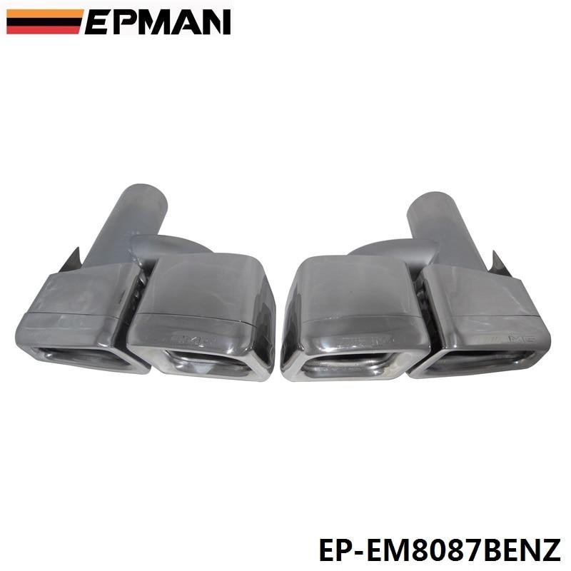 304 embouts d'échappement en acier inoxydable silencieux pour Mercedes Benz W212 AMG pare-chocs 08-13 EP-EM8087BENZ