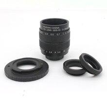 Fujian 35mm f/1.7 CCTV camera lens for M4/3 / MFT Mount Camera & Adapter bundle+2 c Macro ring