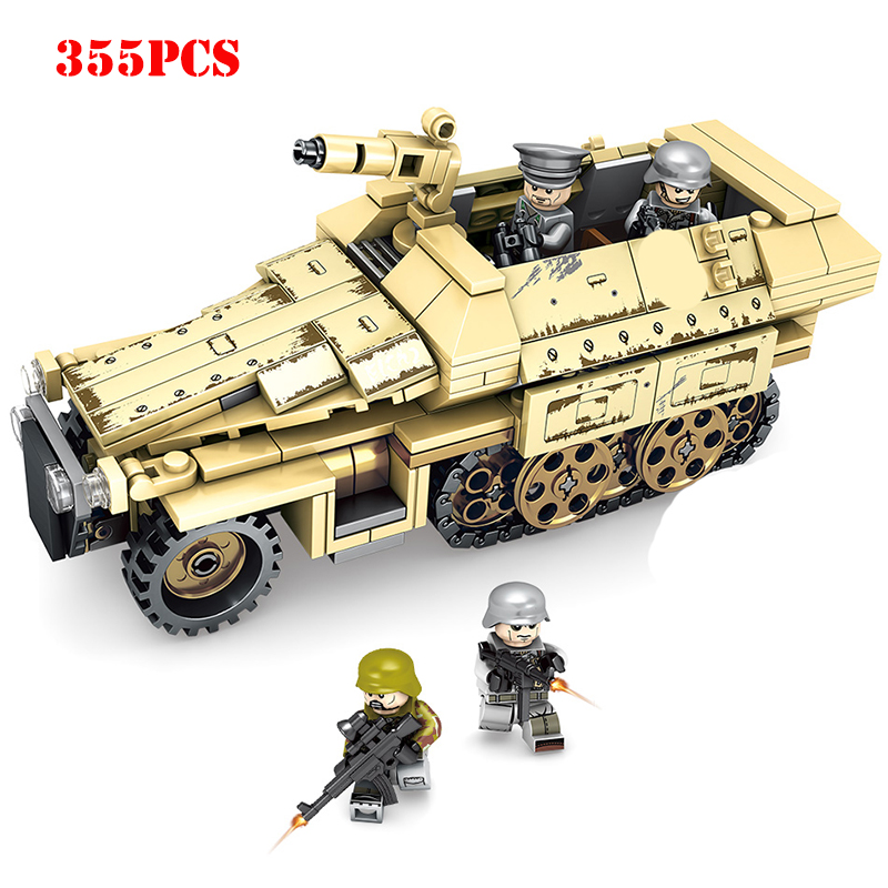 Military Armored Car Tank Plane Building Blocks Compatible Legoing City Army WW2 Weapons Figures Bricks Toys For Chlidren GiftsMilitary Armored Car Tank Plane Building Blocks Compatible Legoing City Army WW2 Weapons Figures Bricks Toys For Chlidren Gifts