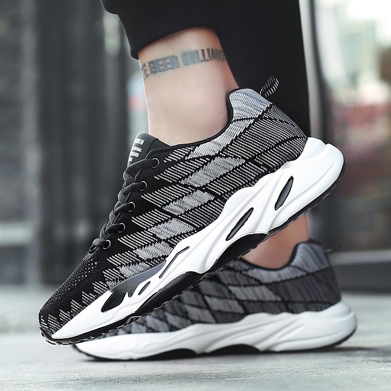 jujube 2018 Haute Mesh And Black White Nouveau black Sport Hommes Casual Mode Populaire Lumière 5 Mâle Color De Chaussures Qualité Respirant qwfrqCxaRv