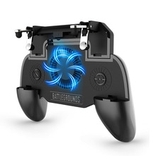PUBG Mobile Game Controller Gamepad Trigger L1R1 Shooter Joystick Game Pad Phone Holder Cooler Fan with 2000/4000mAh Power Bank