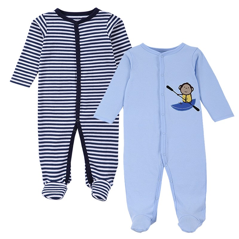 2016 New Brand Spring Summer Baby Rompers Pajamas Boys Girl Clothes Cute Monkey Newborn Jumpsuits Infant Clothing Sleepwear (3)