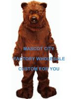 High Quality Big Grizzly Bear Mascot Costume Adult Size Fancy Dress Mascotte Mascota Carnival Cosply Costume SW487