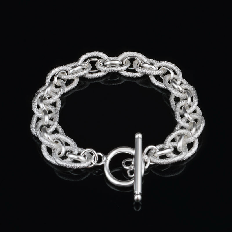 Новый Серебряный позолоченный браслет и браслет дешево очарование связаны браслеты для женщин свадебный подарок высокого качества люблю с...