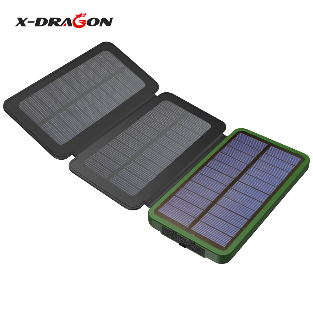 X-DRAGON 10000mAh Power Bank Solar Powered Solar Phone Charger for iPhone 4s 5 5s SE iPh ...