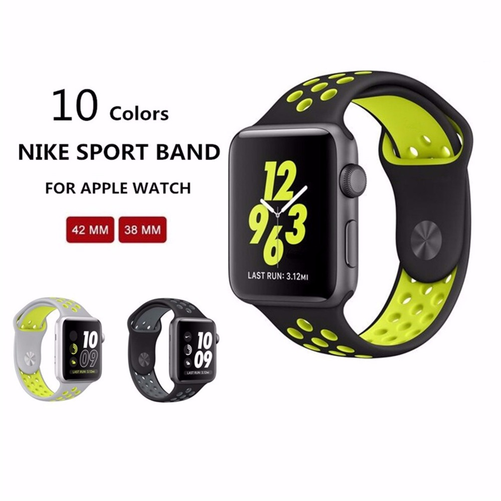 1 1 Original for apple font b watch b font NIKE band 42mm Silicone strap men