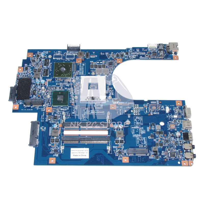 MB.N9Q01.001 MBN9Q01001 For Acer aspire 7741 7741G Laptop Motherboard 48.4HN01.01M HM55 DDR3 ATI HD 5470 Discrete Graphics