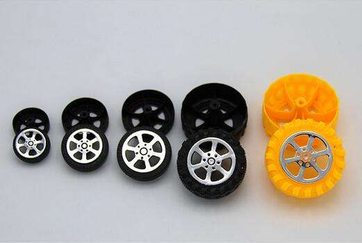 Toys Plastic Tires Toy Car Wheels Spare Parts Aperture 2mm Axle