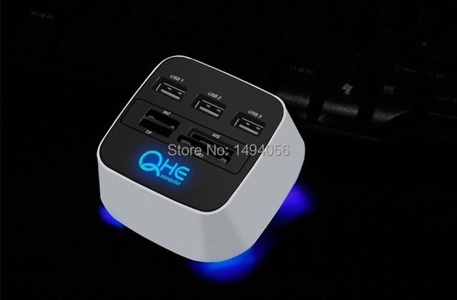 Multifuncional leitor USB divisor HUB USB conversor de alta velocidade disponível com 2 T HDD