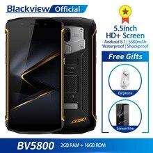 Blackview BV5800 Su Geçirmez Smartphone MT6739 Dört Çekirdekli 2 GB + 16 GB 5.5