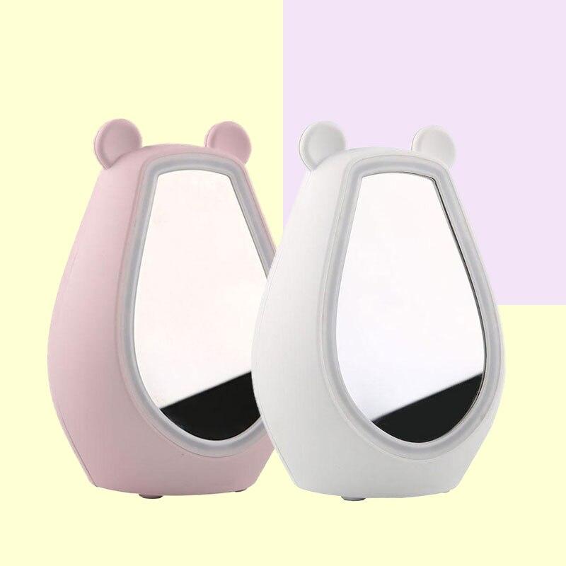 Night Light Make-up Mirror LED Alarm Clock Digital Bluetooth Speaker Player Fill Night Lighting Lamp USB цена