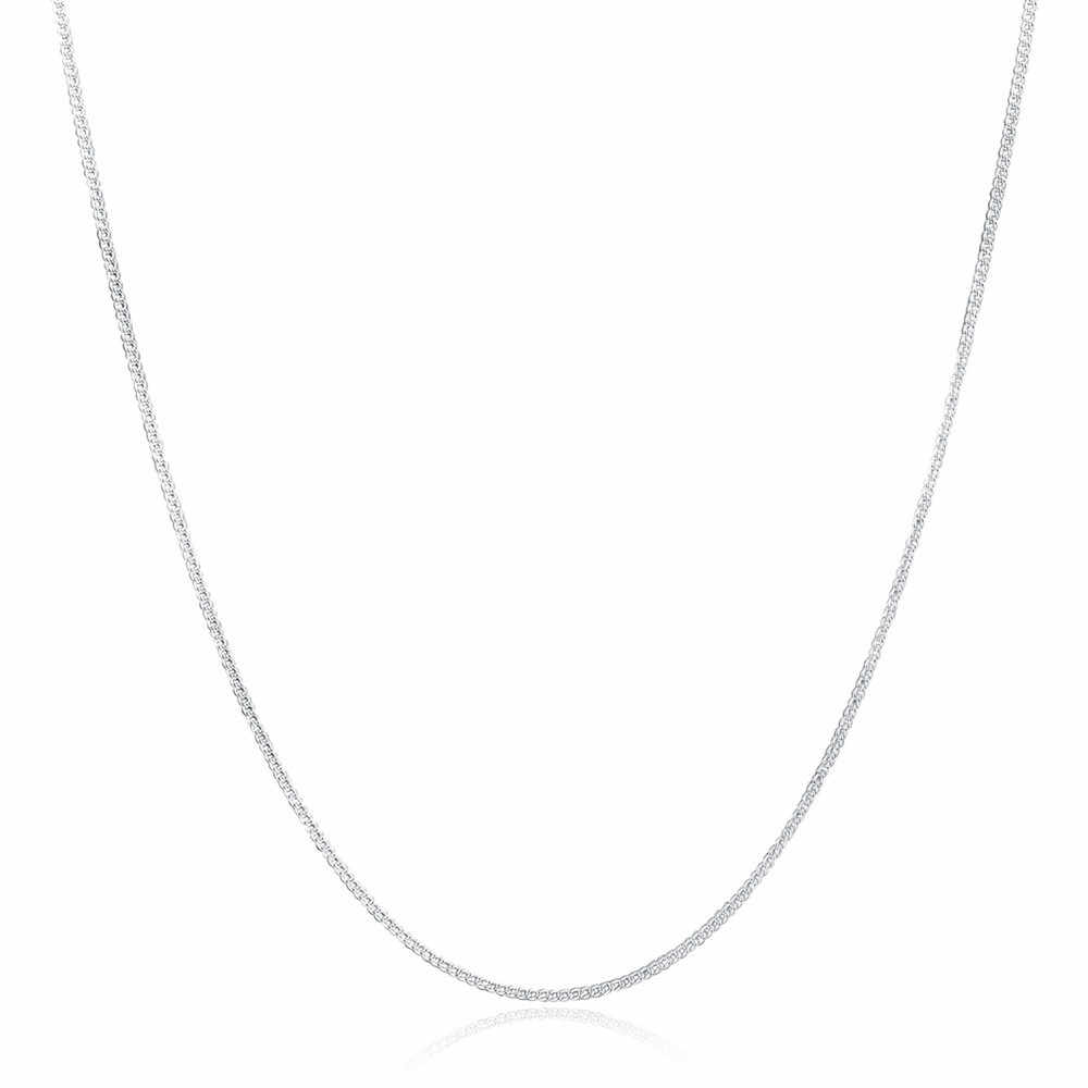 Delle Donne di modo Degli Uomini Della Collana 2mm Collana In Argento Choker Della Catena Dei Monili Accessori Squisito Collane Coppia Ornamenti Collane