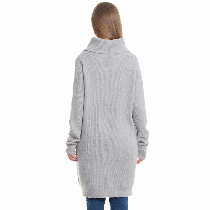 Woman Long Force Code dress European And Winter Hair Easy White High Upper Wollens Garment Will Sweater Unlined Gray Suit Autumn qvapqfZ