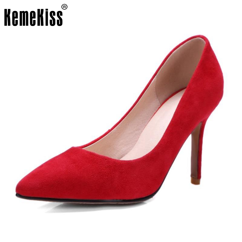 5 Colors Women High Heels Real Leather Shoes Women Wedding Party Thin Heels Pumps Brand Pointed Toe Fashion Footwear Size 34-39 bowknot pointed toe women pumps flock leather woman thin high heels wedding shoes 2017 new fashion shoes plus size 41 42