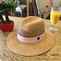 Sombrero de piel El color de pelo de camello abnormity cap cinta de Doble lado oscuro M estándar hembra sombrero Negro