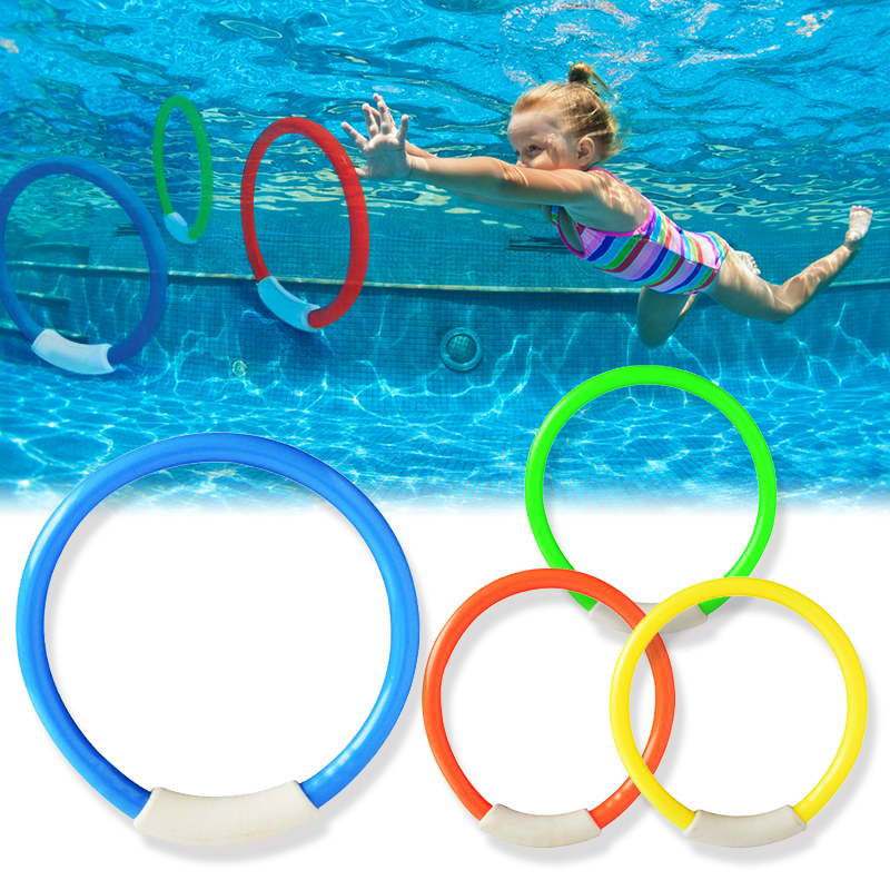 2019 4Pcs/set Funny Kids Toys Underwater Sports Swimming Pool Dive Game Rings Toys Diving Rings Toys Swimming Pool Accessories