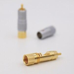 Image 4 - 8 Uds. Nakamichi 24K chapado en oro RCA Plug conector de Cable de Audio