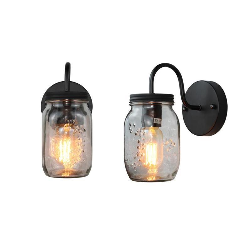 Mordern Creative Jar Wall Lamp American Village Wind Mason Light Living Room Kitchen Lamps S2