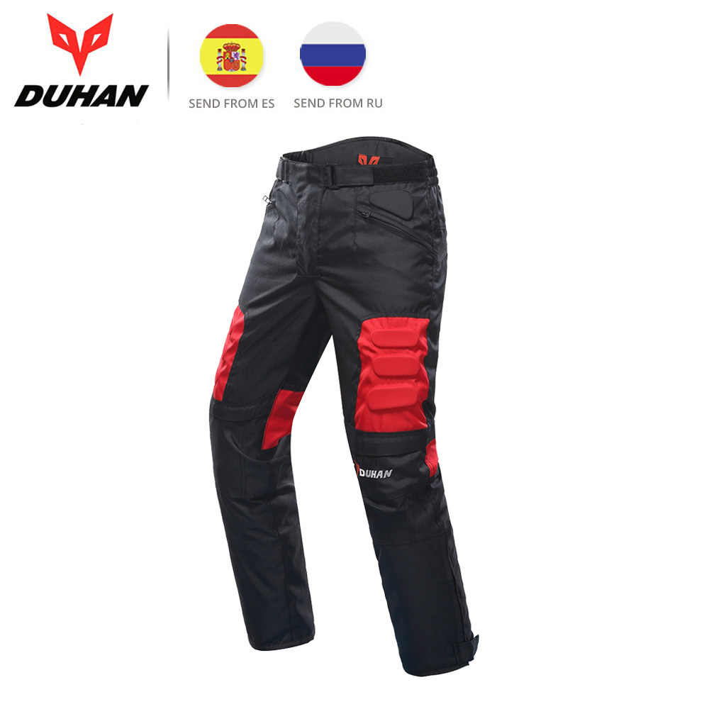 DUHAN Motorcycle Pants Men Motocross Pants Trousers Pantalon Moto Pants Motorbike Hip Protector Motocross Equipment DK
