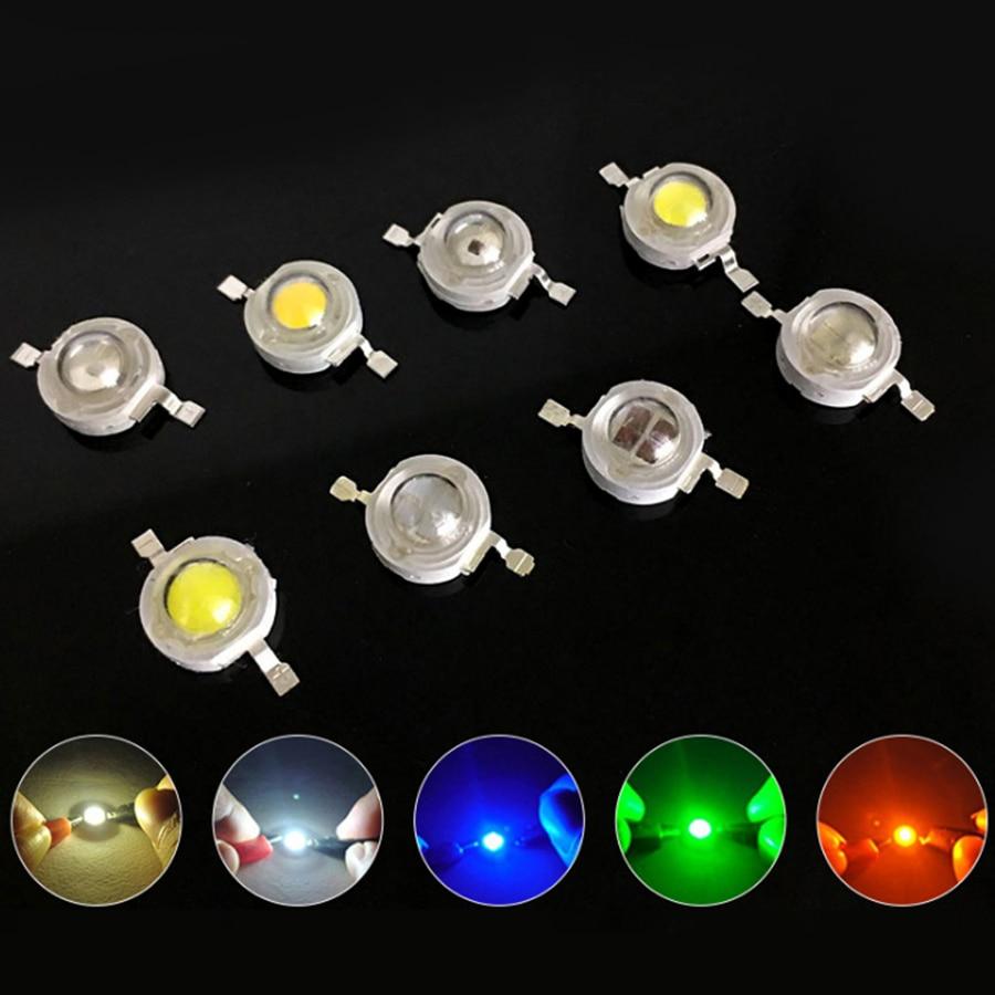 1 W puces LED Réel Plein Watt Haute Puissance lampe à LED Ampoule Diodes SMD SpotLight Spot Lampe Ampoule lumière LED-Emitting Diode