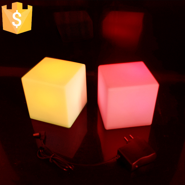 Mini LED Table Lamps 7 color change illuminated Night Lights ABS Matte Coffe Chair for Club KTV Bar Free Shipping 10pcs/Lot купить