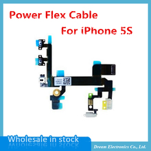 MXHOBIC 10pcs/lot Power Mute Volume Control Button Switch on/off Power Flex Cable for iPhone 5S OEM free shipping