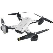 White Mini foldable drone Camera WIFI FPV remote control helicopter rc toys for children boys gift quad smart