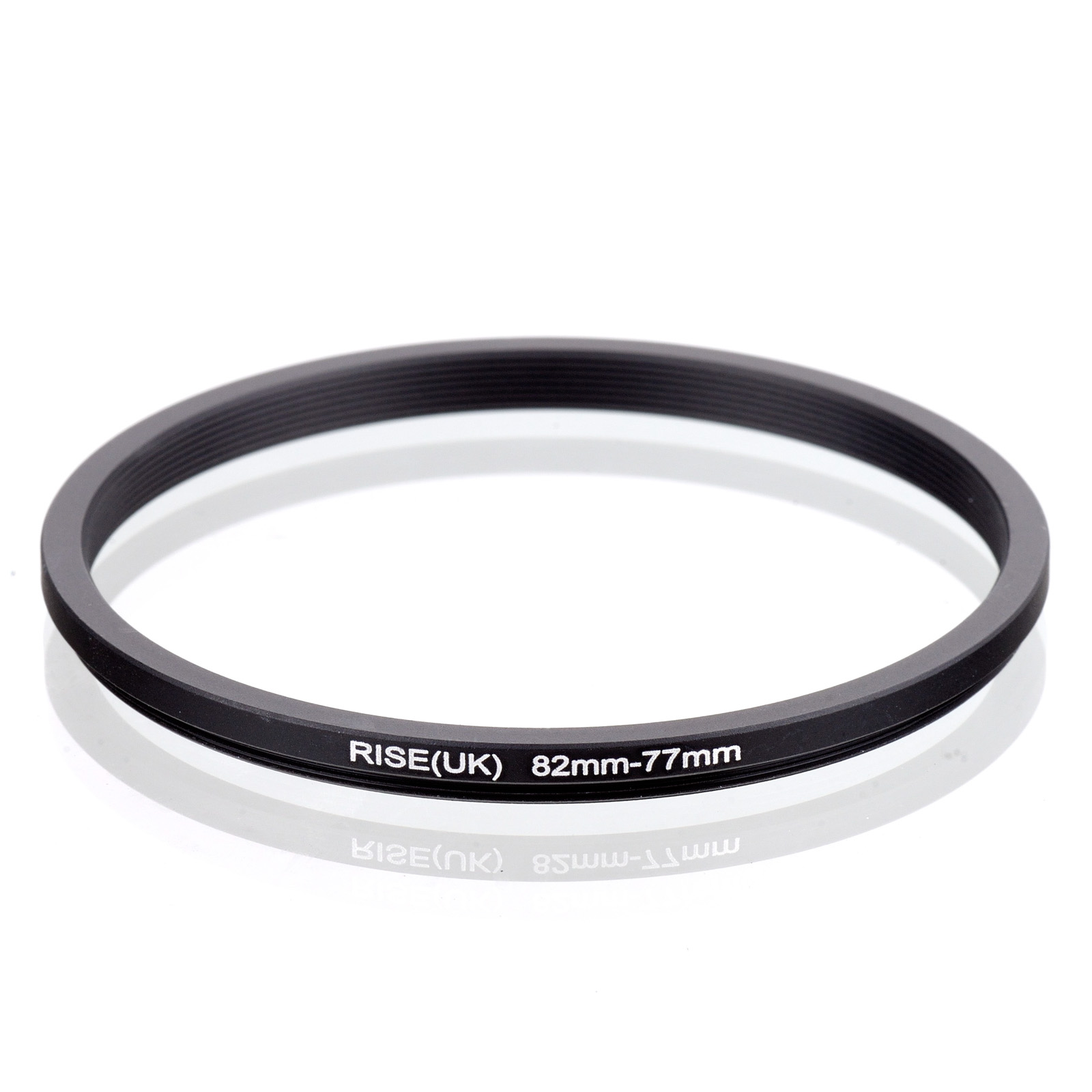 RISE(UK) 82mm-77mm 82-77 Mm 82 To 77 Step Down Filter Ring Adapter Black