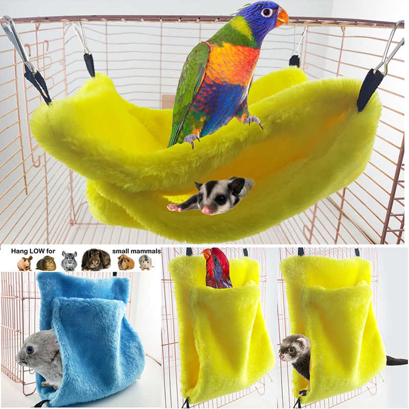 Hamster Hanging Cozy Bed Birds Pet Parrot Rat Hamster Ferret Hammock House Cuddle Cup Snuggle Pouch Sleeping Hammock Bag