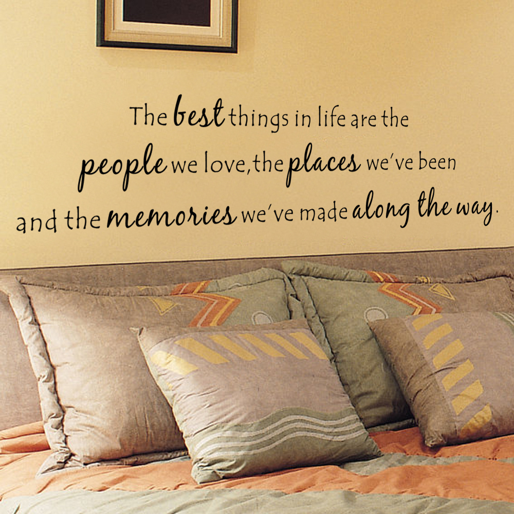 The best things In Life are the people we love,the places weve been... Photo Wall Decal Love Vinyl Art Quote 22.9cm x 86.4cm