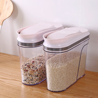 Household large capacity snacks grain storage tank sealed cans plastic transparent tide storage box WF4031916