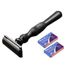 New 1 Razor 10 Blades Double Edge Razor Men Shaving Manual Classic Wet Shaver Metal Handle Safety Razors