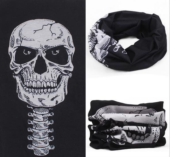 Skull Bandana Bike Motorcycle Helmet Neck Face Mask Paintball Ski casual Balaclava UV Full Face Mask Magic Cap Headwear Scarf jetting 1pcs multi scarf tube mask cap neck face mask motorcycle bandana stretchable tubular headband for men and women