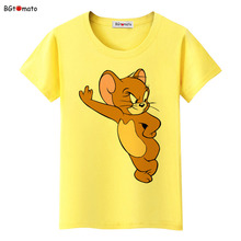 BGtomato Movie star Jerry mouse T shirt women 100% Brand good quality shirts Four colors Short sleeve o-neck lovely tops four tops gateshead